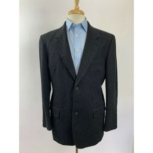 JCrew Mens Sport Jacket/Blazer 100% Wool 40R Black